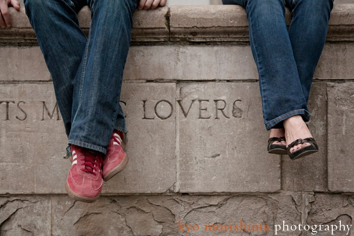 Central Park engagement portrait by NYC wedding photographer Kyo Morishima.