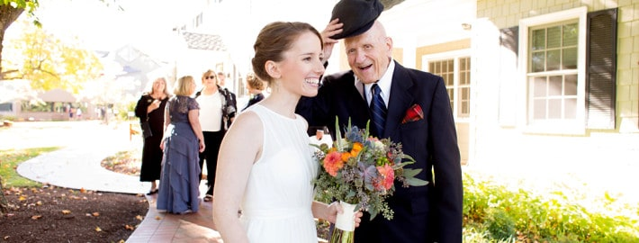 bride and grand father at Chauncey Hotel & Conference Center, princeton, nj