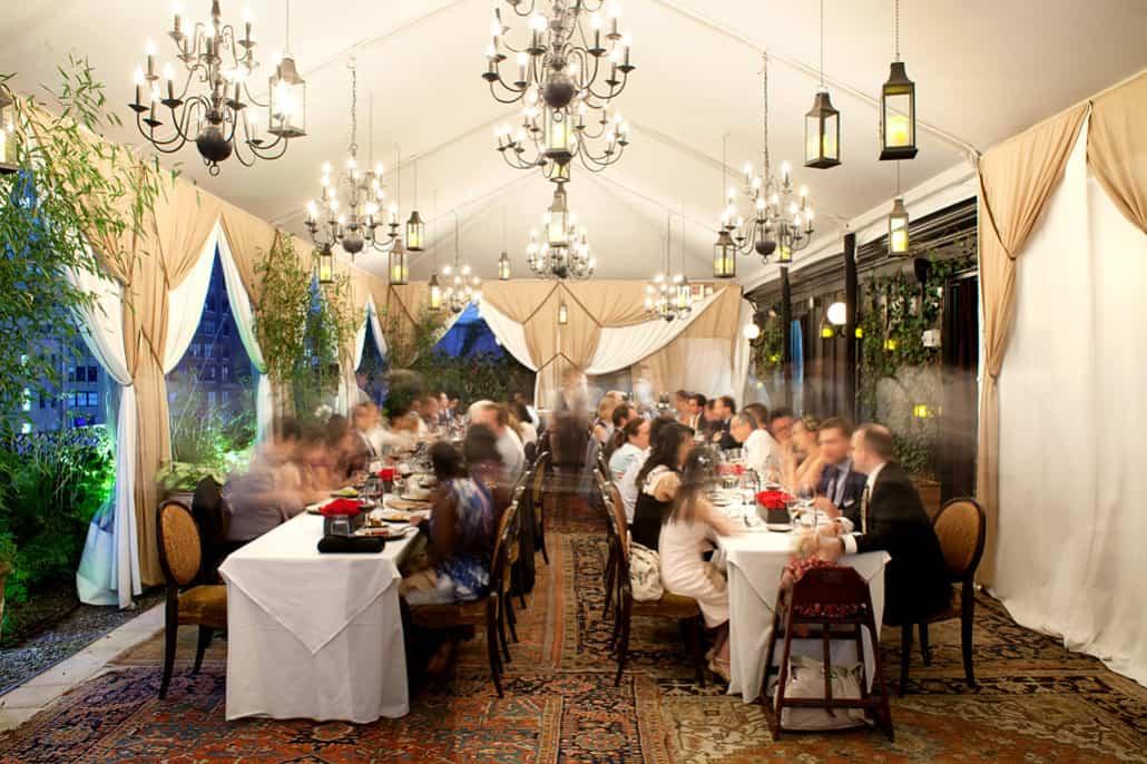 Nomad Hotel wedding reception dinner NYC