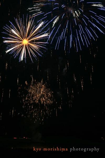 Swiss fireworks, photographed by destination wedding photographer Kyo Morishima