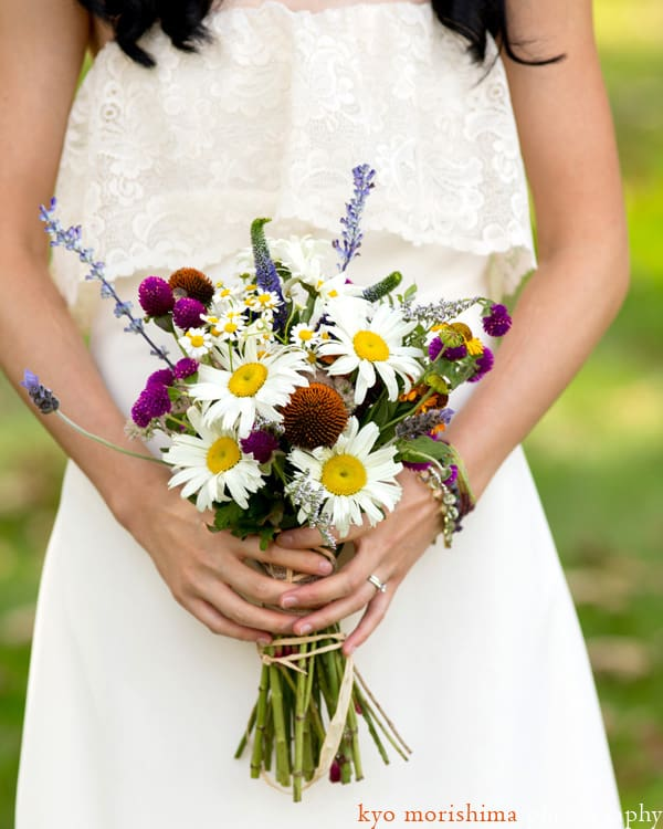 Gardenias Floral wedding bouquet, photographed by Princeton wedding photographer Kyo Morishima