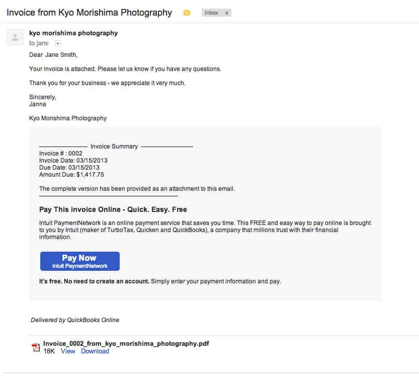 How To Pay Online Kyo Morishima Photography - Intuit invoicing online