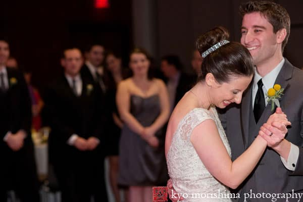 First dance at a Hyatt New Brunswick wedding, photographed by NJ wedding photographer Kyo Morishima