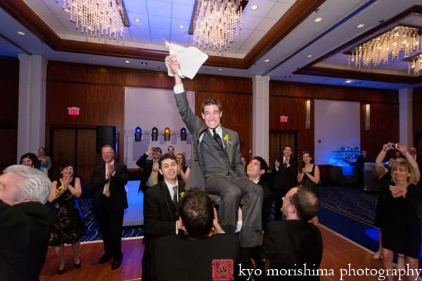 Dancing The Hora At A Hyatt New Brunswick Wedding Photographed By Nj Photographer Kyo