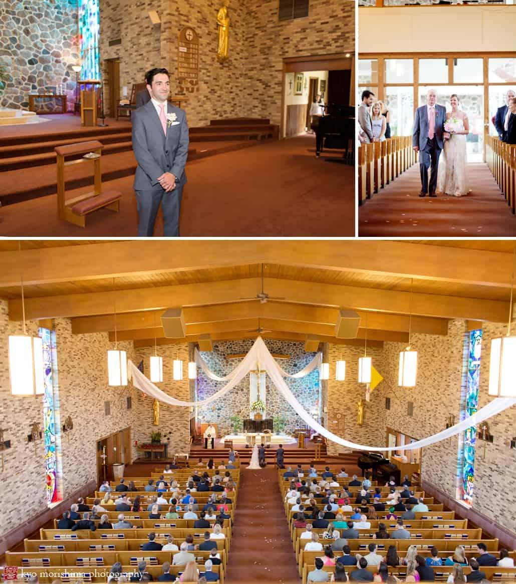 St Benedict Catholic Church Wedding Ceremony Photographed By Lake Geneva Photographer Kyo Morishima