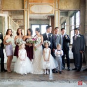 Metropolitan Building wedding party portrait, photographed by NYC wedding photographer Kyo Morishima