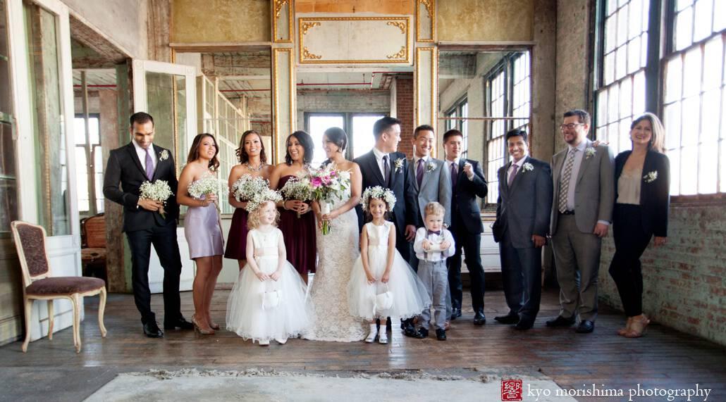 Metropolitan Building wedding bridal party portrait by NYC wedding photographer Kyo Morishima?????????????????????