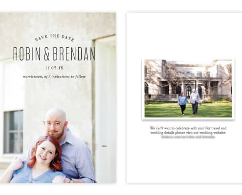 Minted.com save the date card with engagement photos by Kyo Morishima