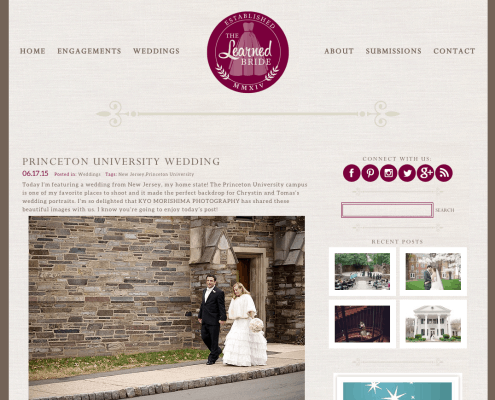 Princeton University wedding photographed by Kyo Morishima Photography featured on TheLearnedBride.com