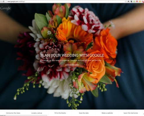 Google Weddings page