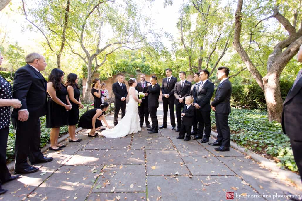 Central Park Outdoor Wedding Ceremony In Early October Photographed By Kyo Morishima