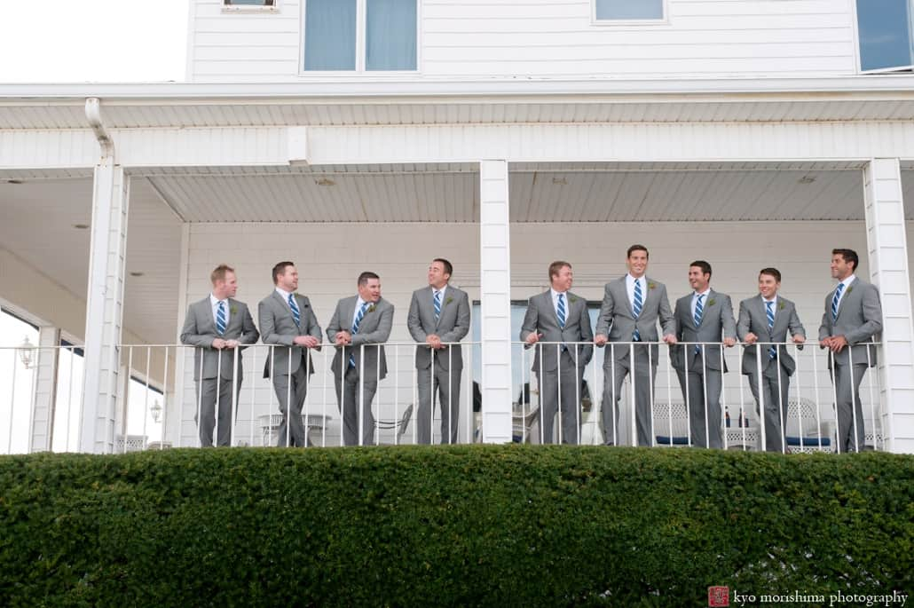Groom And Groomsmen At The Breakers In Spring Lake Nj Photographed By Kyo Morishima