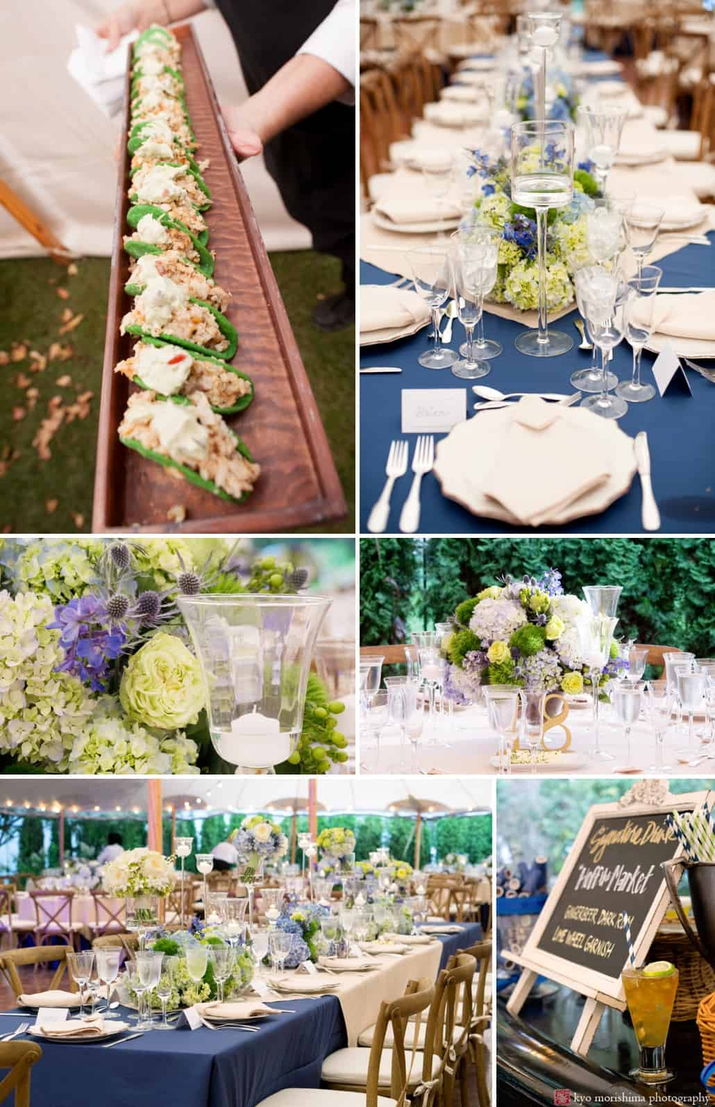 spring lake backyard wedding reception