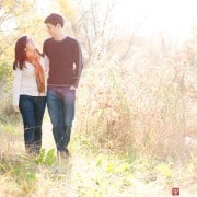 Hopewell NJ engagement picture in fall, photographed by Kyo Morishima