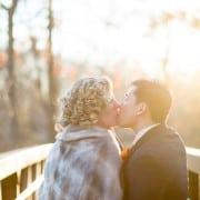 Golden hour wedding photo at New Jersey Audubon Plainsboro Preserve, photographed by Kyo Morishima