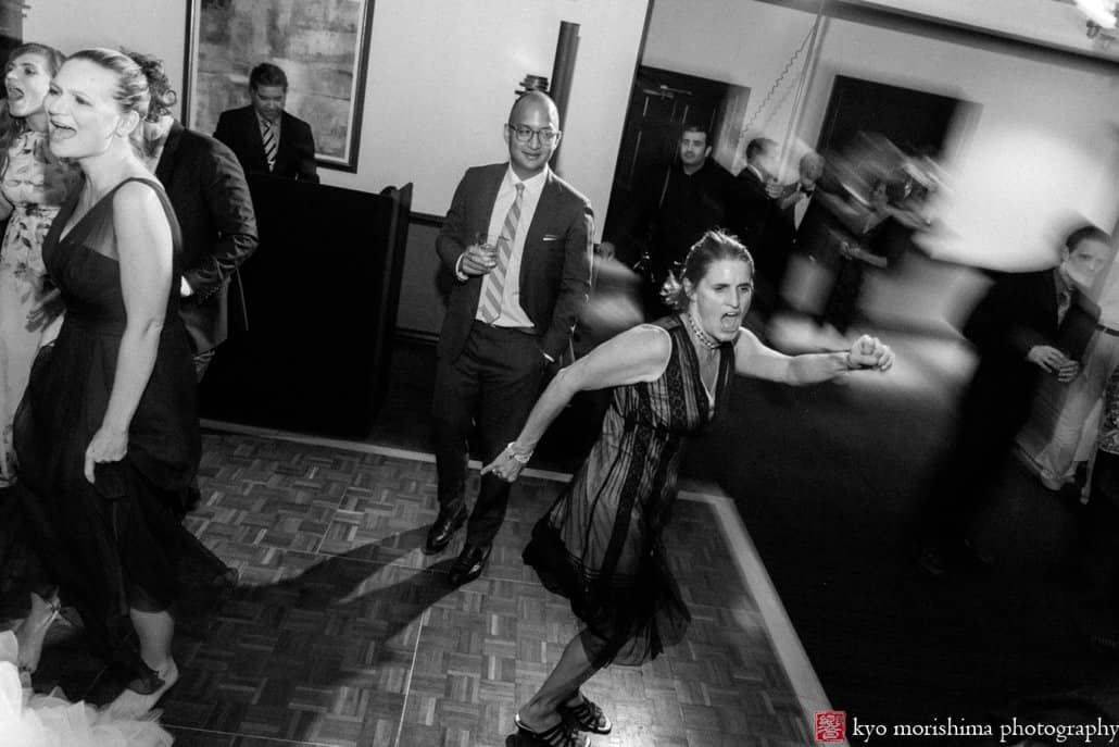 Wedding guests enjoy music by 74 Events during Cherry Valley Country Club wedding