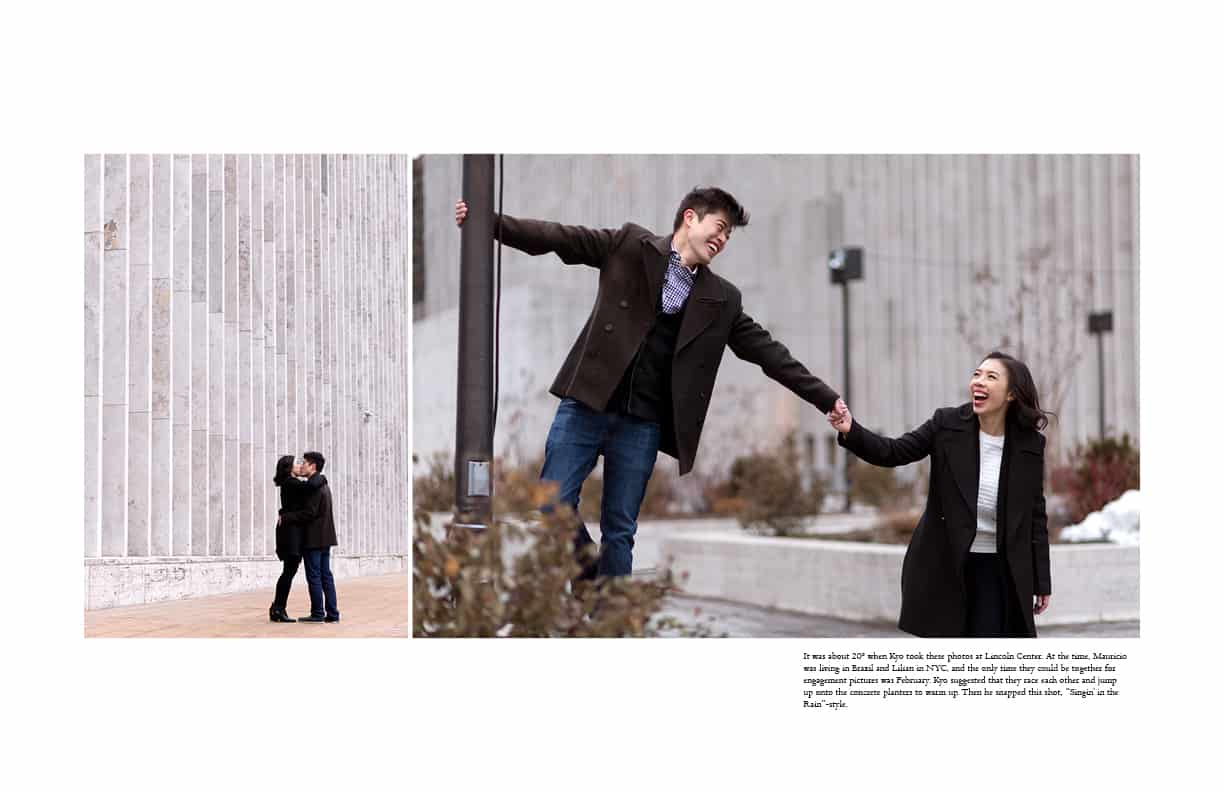 Lincoln Center engagement photos in February