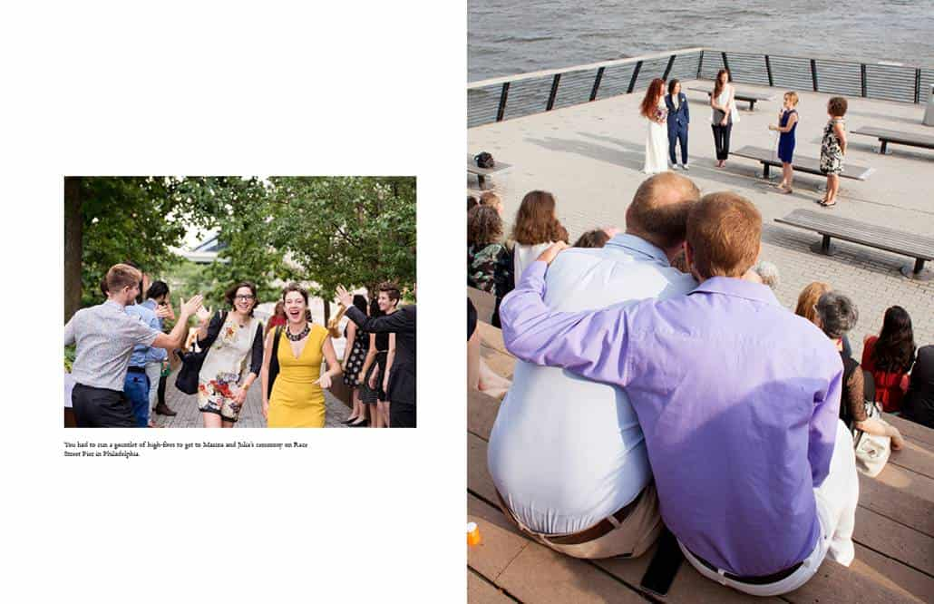 Race Street Pier wedding photos in Philadelphia
