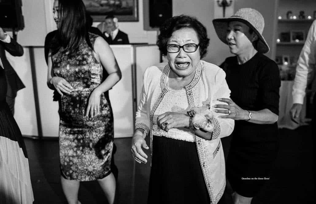 Grandma rocks out during India House wedding reception in downtown Manhattan