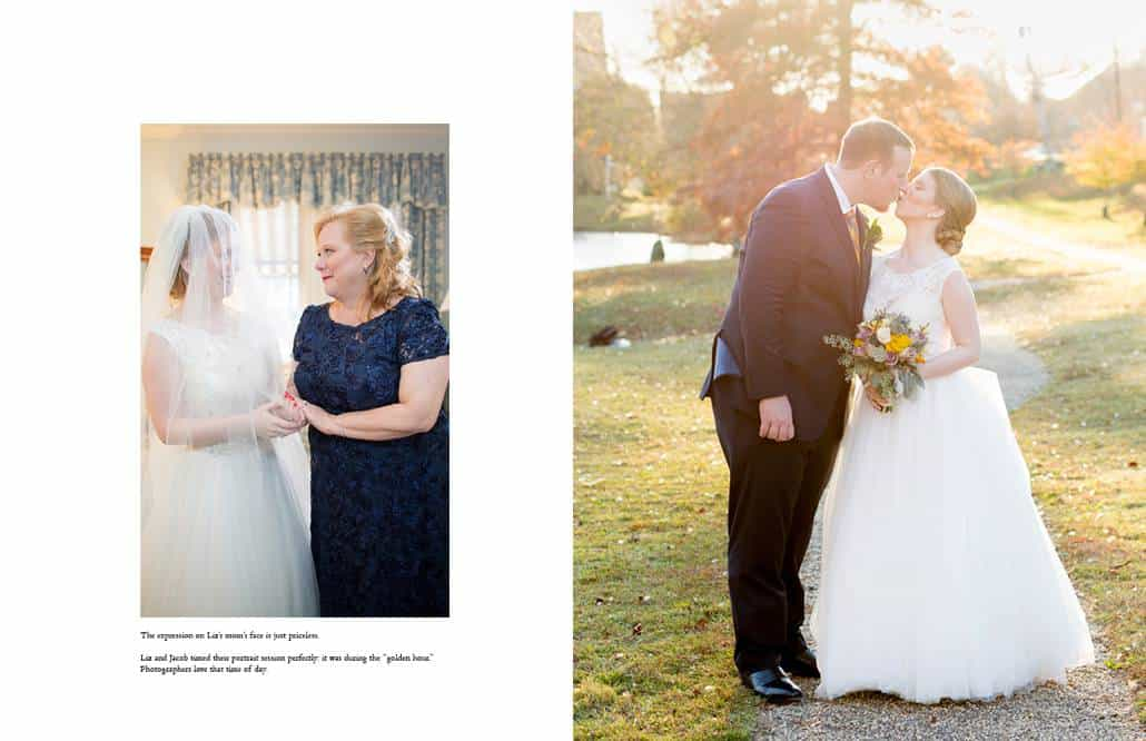 Bernards Inn wedding photographer: two portraits at a fall wedding