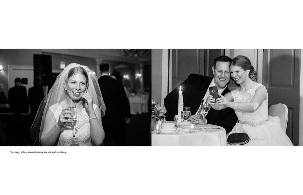 iPhone wedding photos at the Bernards Inn in New Jersey
