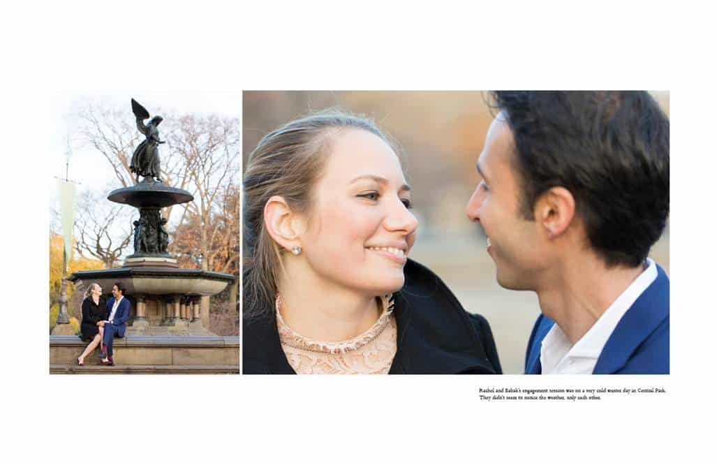 Central Park engagement pictures in winter
