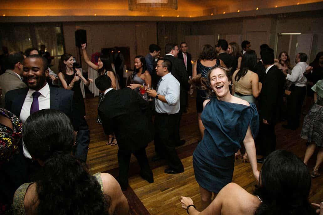 Guests dancing at Battery Garden Wedding Reception, NYC