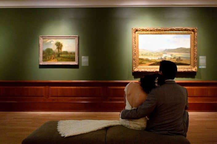 wedding portrait at Montclair Art Museum
