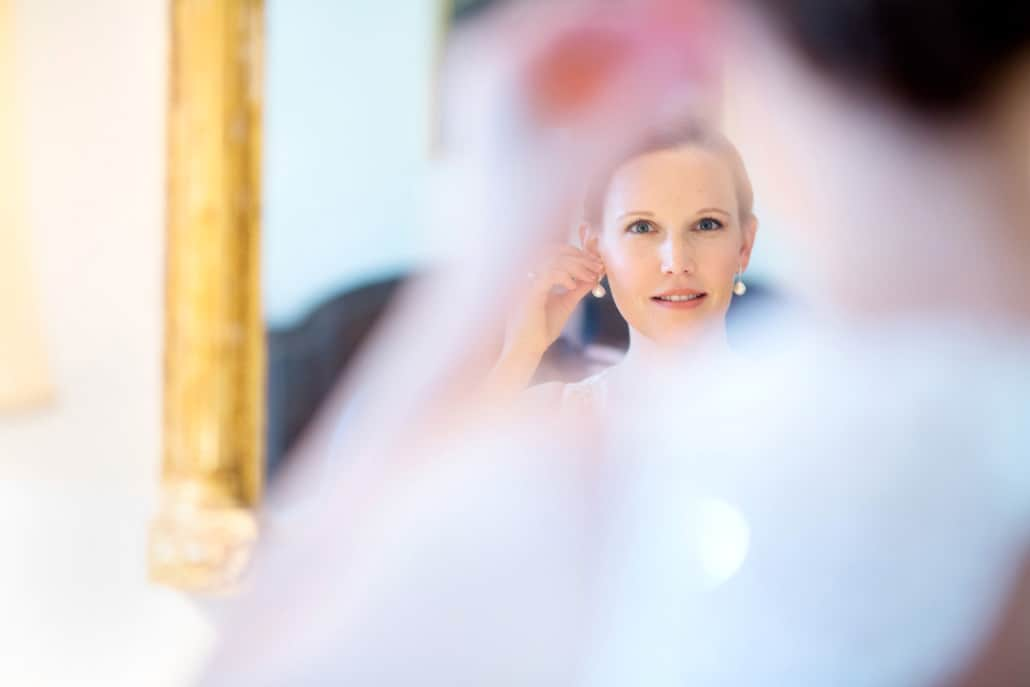 Bride getting ready jasna polana fall princeton wedding