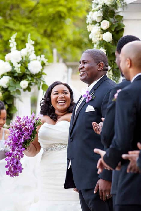 smile at Mt. Laurel, NJ wedding ceremony