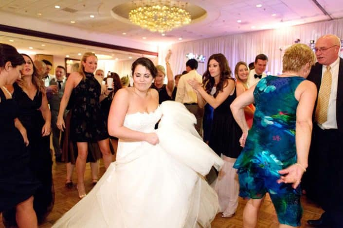 Bride dances during The Westin Princeton at Forrestal Village wedding reception, Princeton, NJ