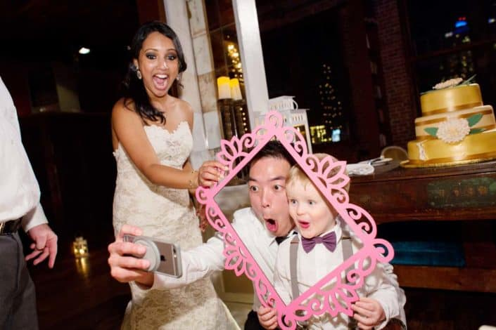 Metropolitan Building Wedding Photographer: Picture Time with Ring Bearer, Long Island City NYC