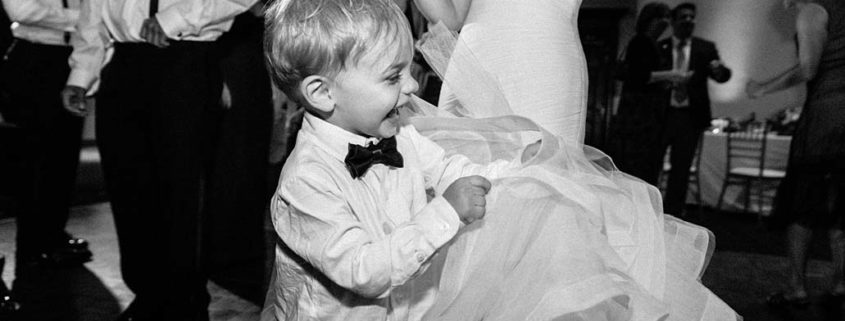 ring bearer dance with bride at Cherry Valley Country Club, Skillman NJ