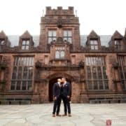 Princeton same sex marriage wedding portrait at East Pyne Hall