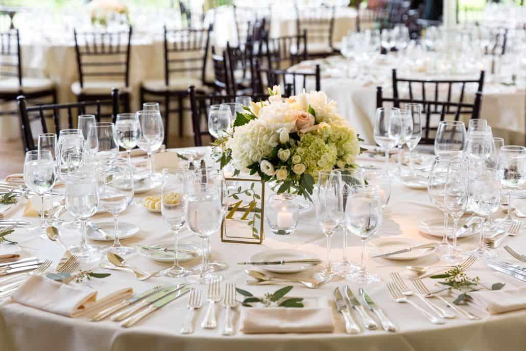 Green And Cream Hydrangea Pink Rose And Peony Wedding Centerpiece