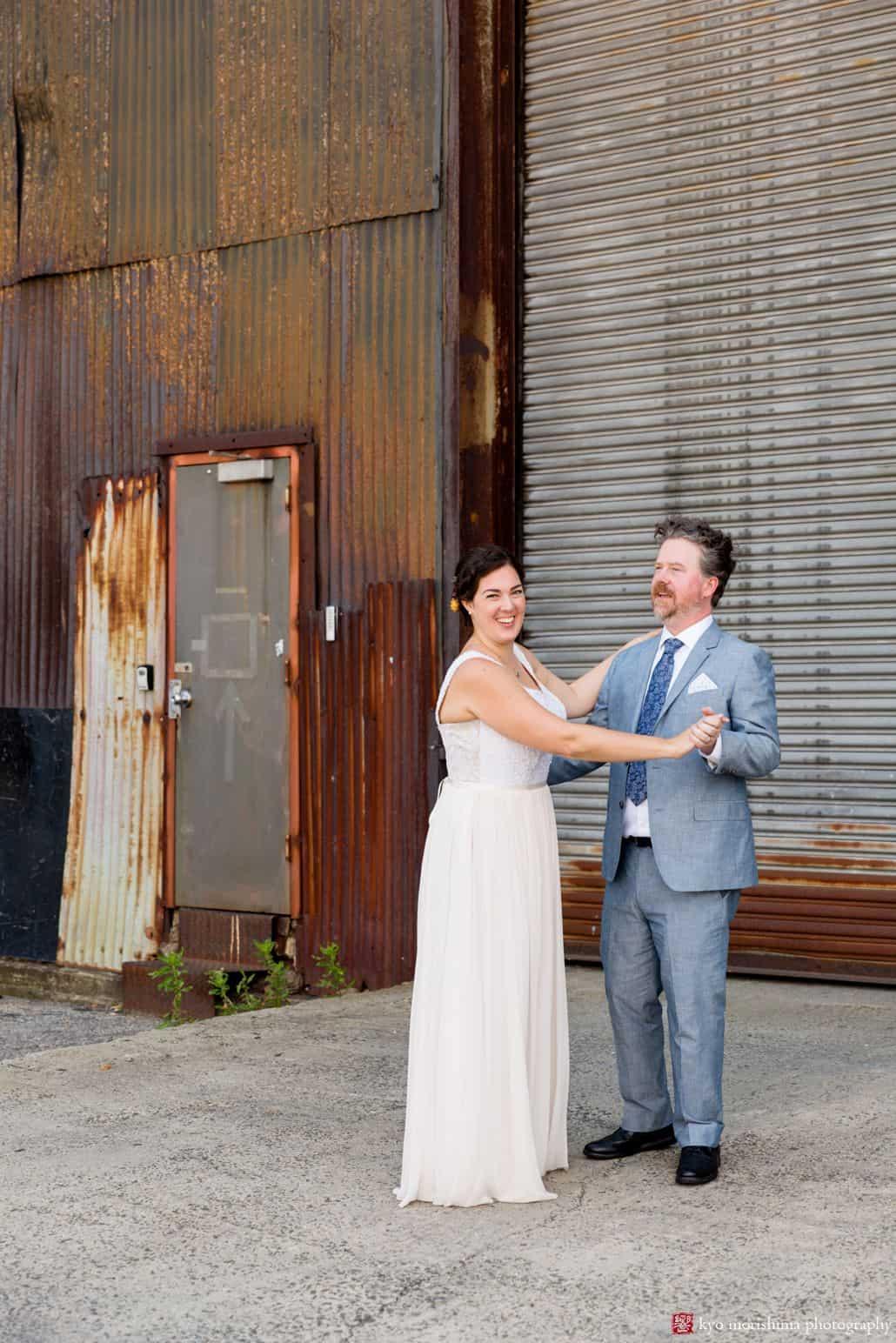 Places to take wedding photos in Brooklyn: the Brooklyn Navy Yard