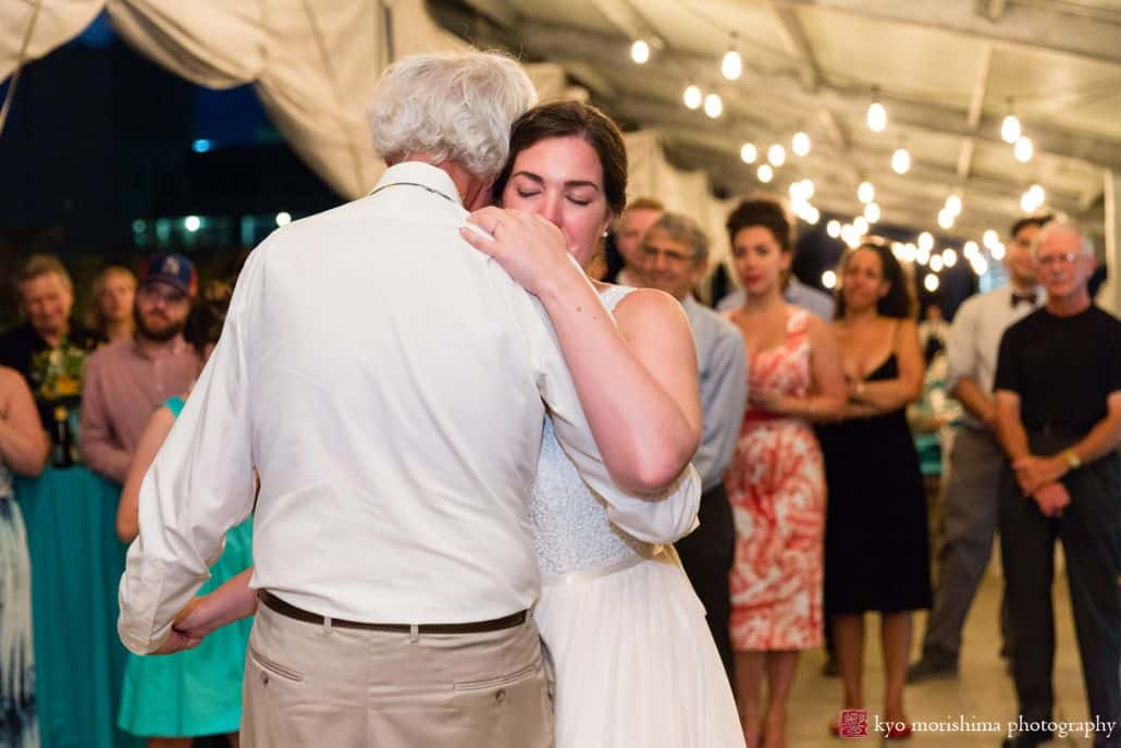 Father daughter dance at Brooklyn Grange farm wedding