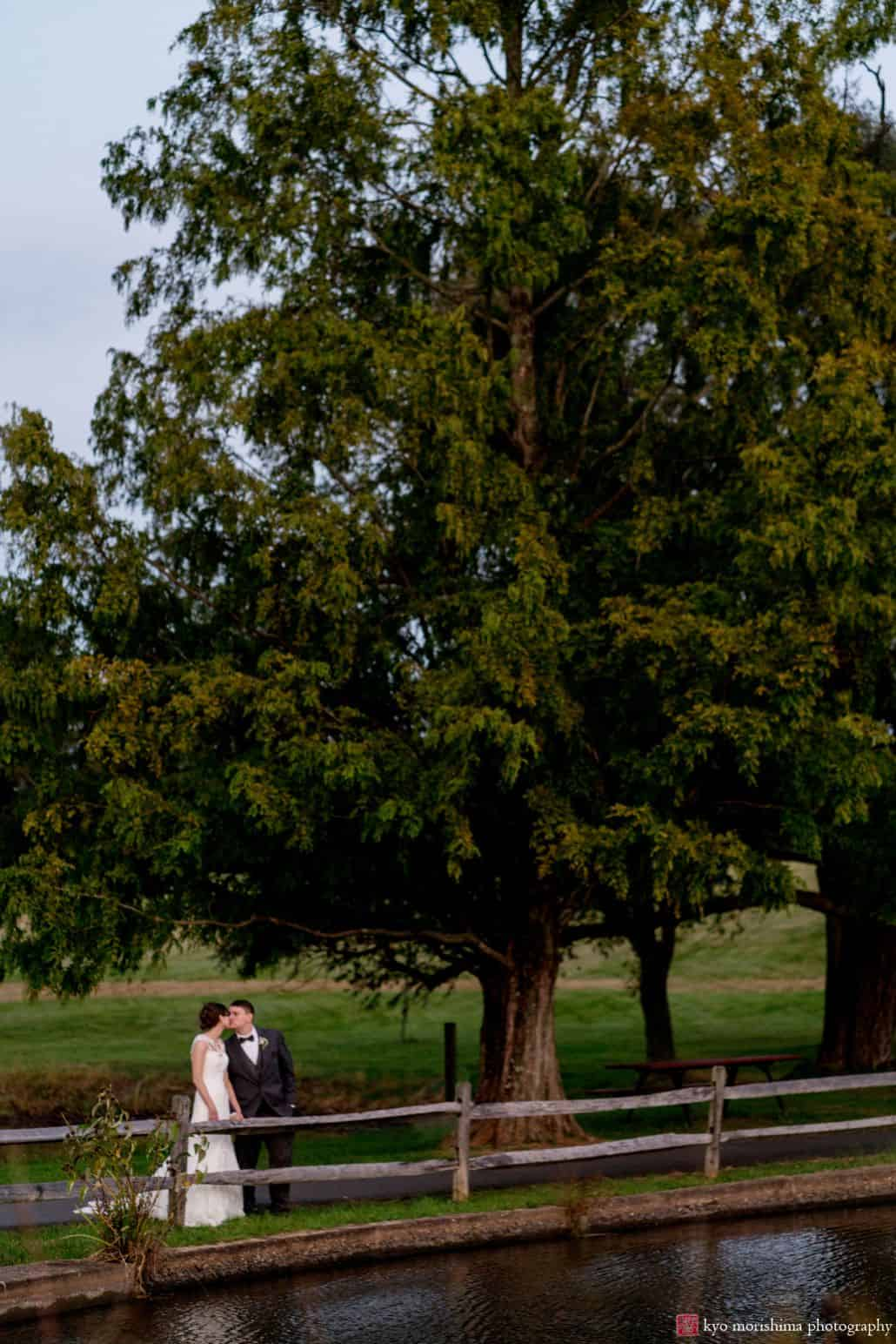 Wedding venues near Princeton University: the Chauncey Conference Center includes this lovely lake and wooded path perfect for romantic wedding portraits
