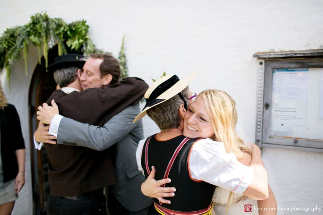 how much time does wedding receiving line take - candid photo from swiss alps wedding